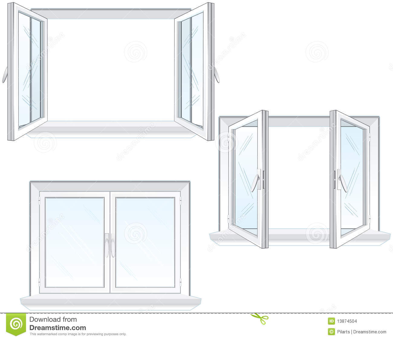 Plastic window frame stock images image 13874504 for Window plastic