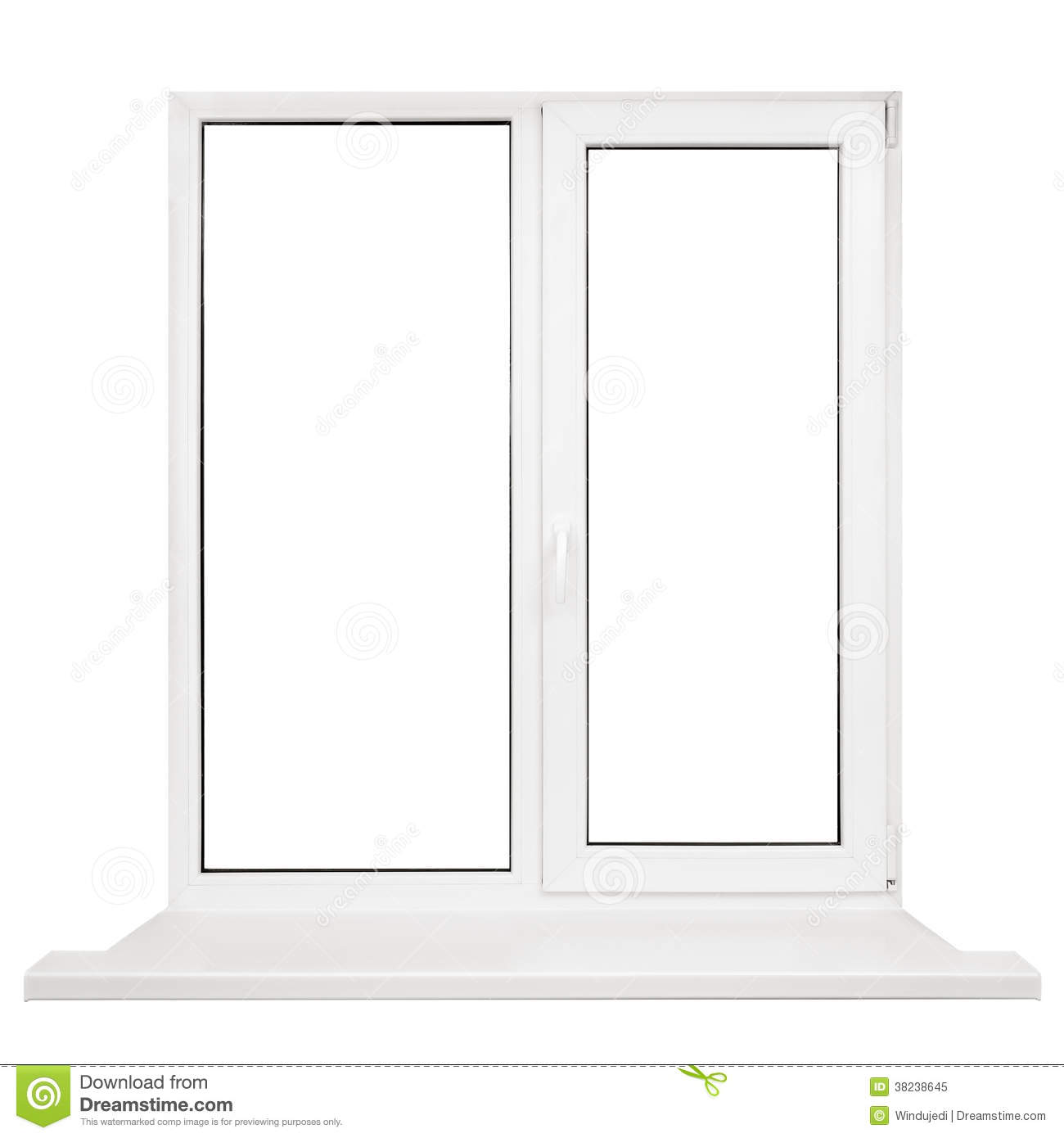 Plastic window frame stock image image of window nobody for Window plastic