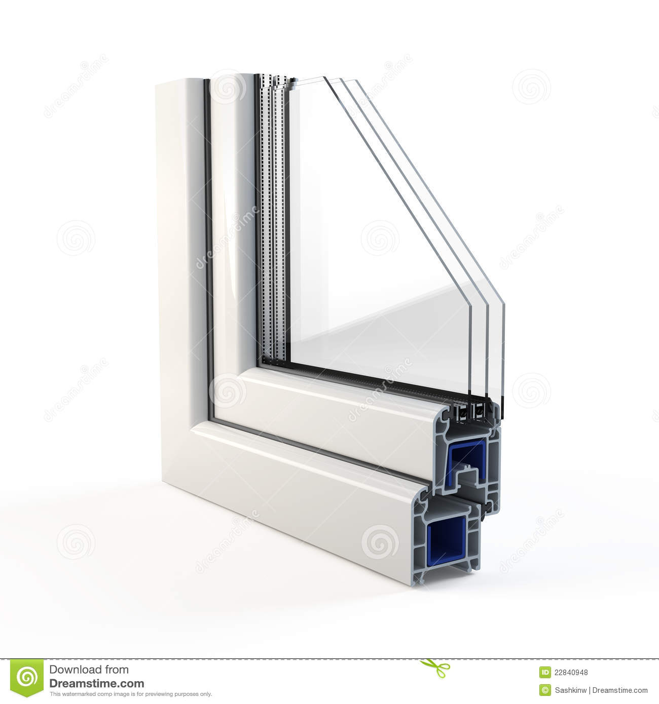 Plastic Window Profile Royalty Free Stock Photos Image 22840948