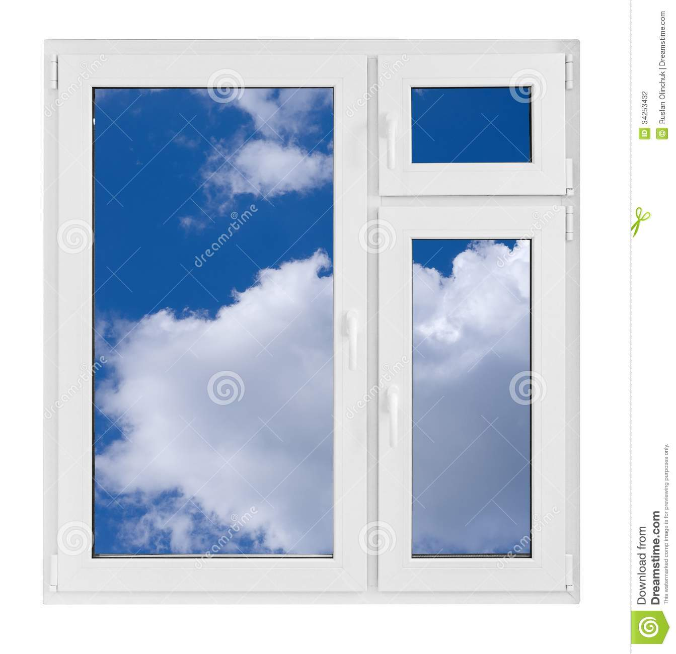 Plastic window stock photography image 34253432 for Window plastic