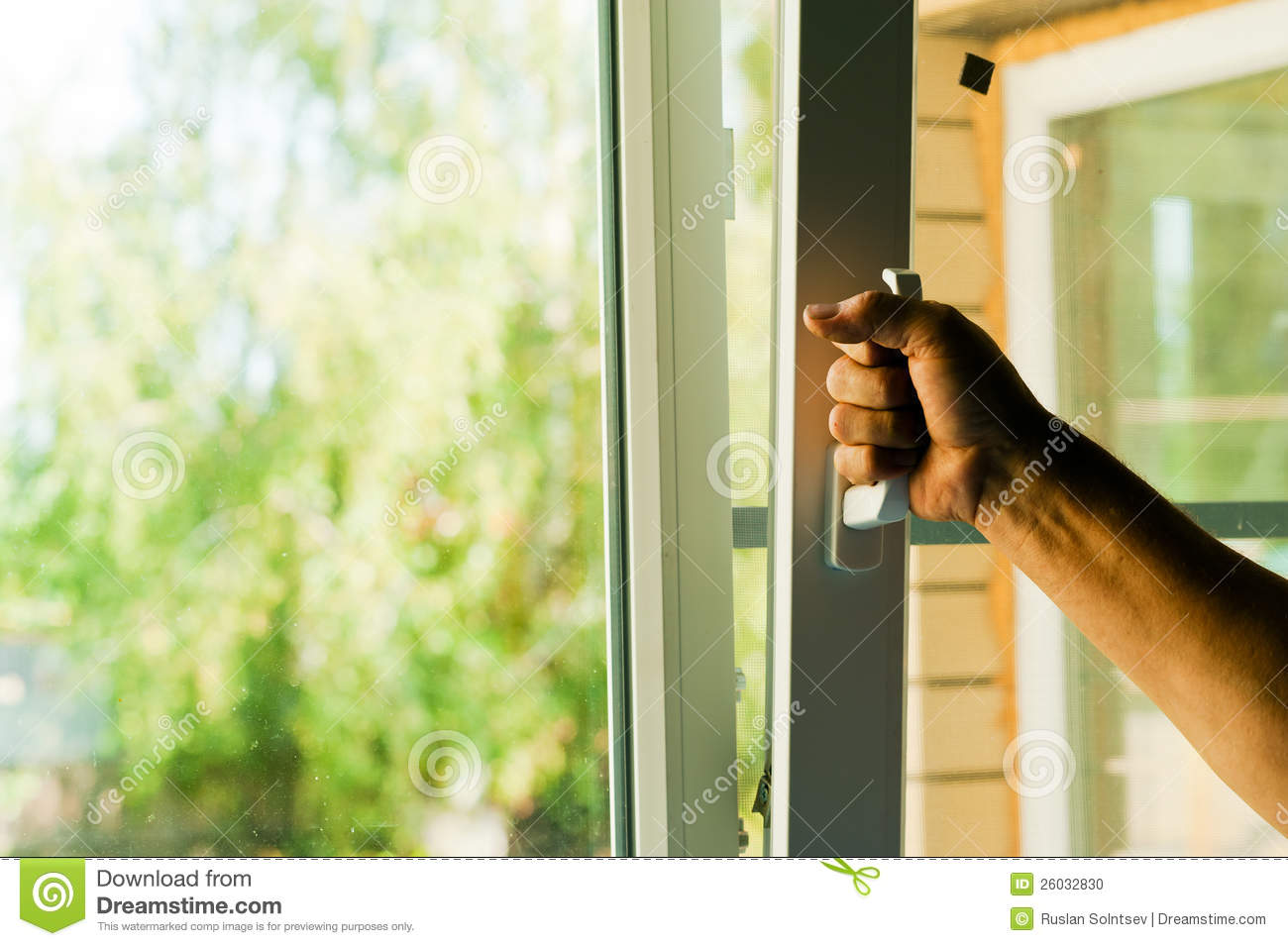 Plastic windows stock photo image 26032830 for Window plastic