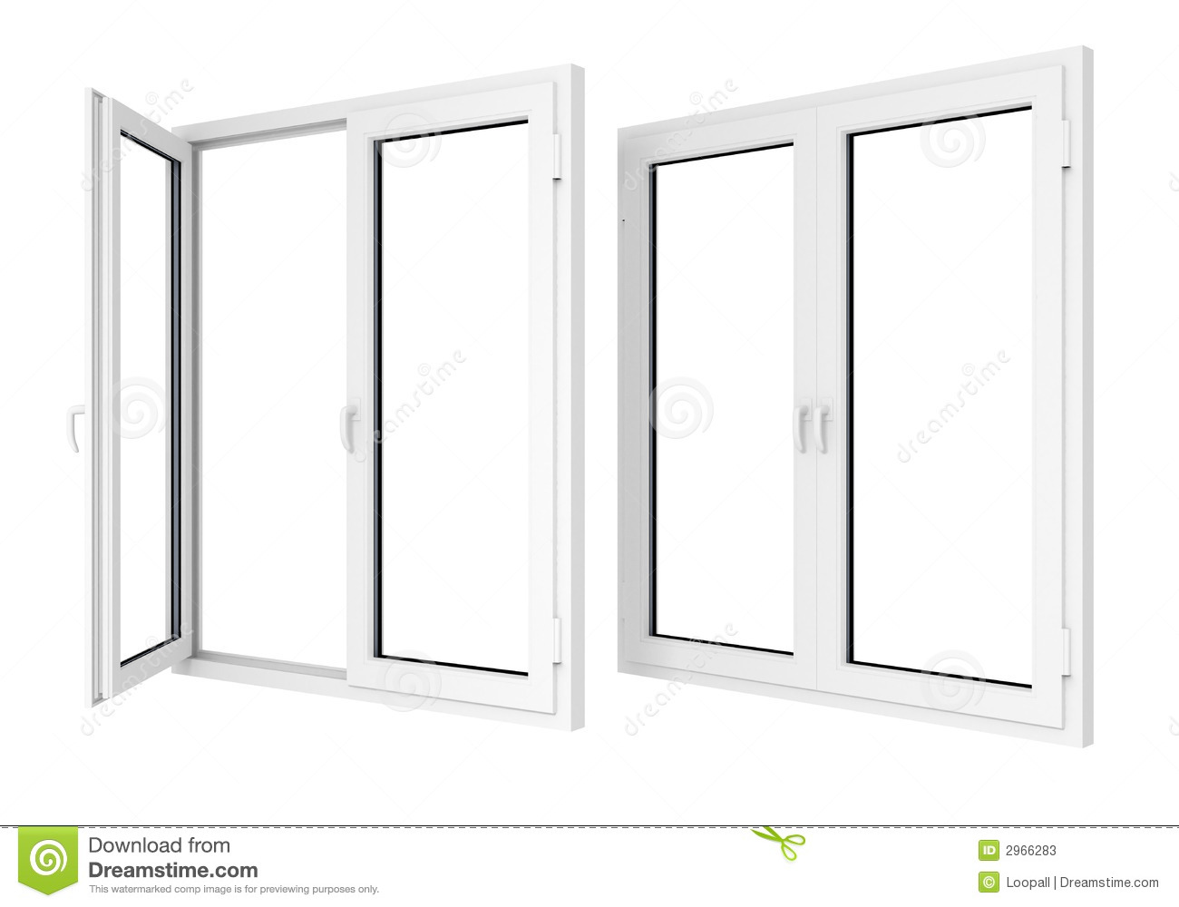 Plastic windows stock photos image 2966283 for Window plastic