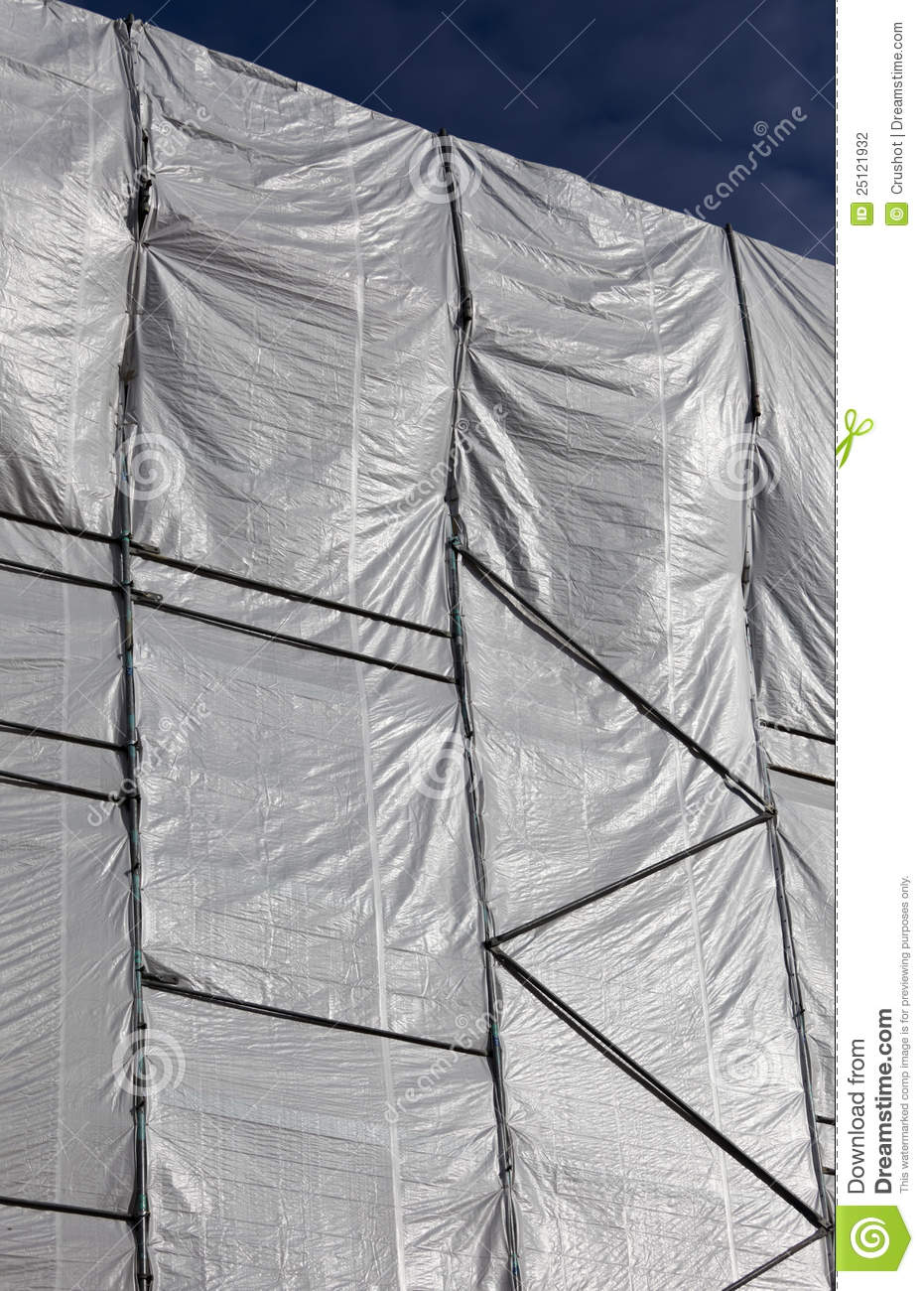 Plastic Wrap On A Building Stock Photo Image Of Plastic
