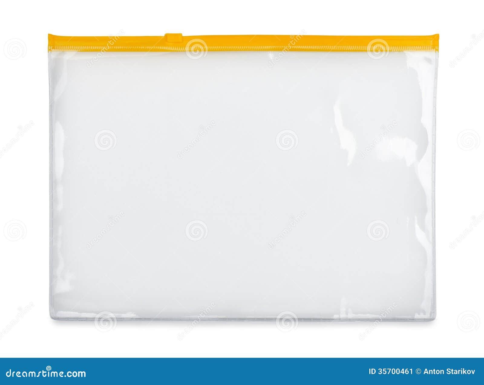 plastic zipper bag stock image image of pocket clipping