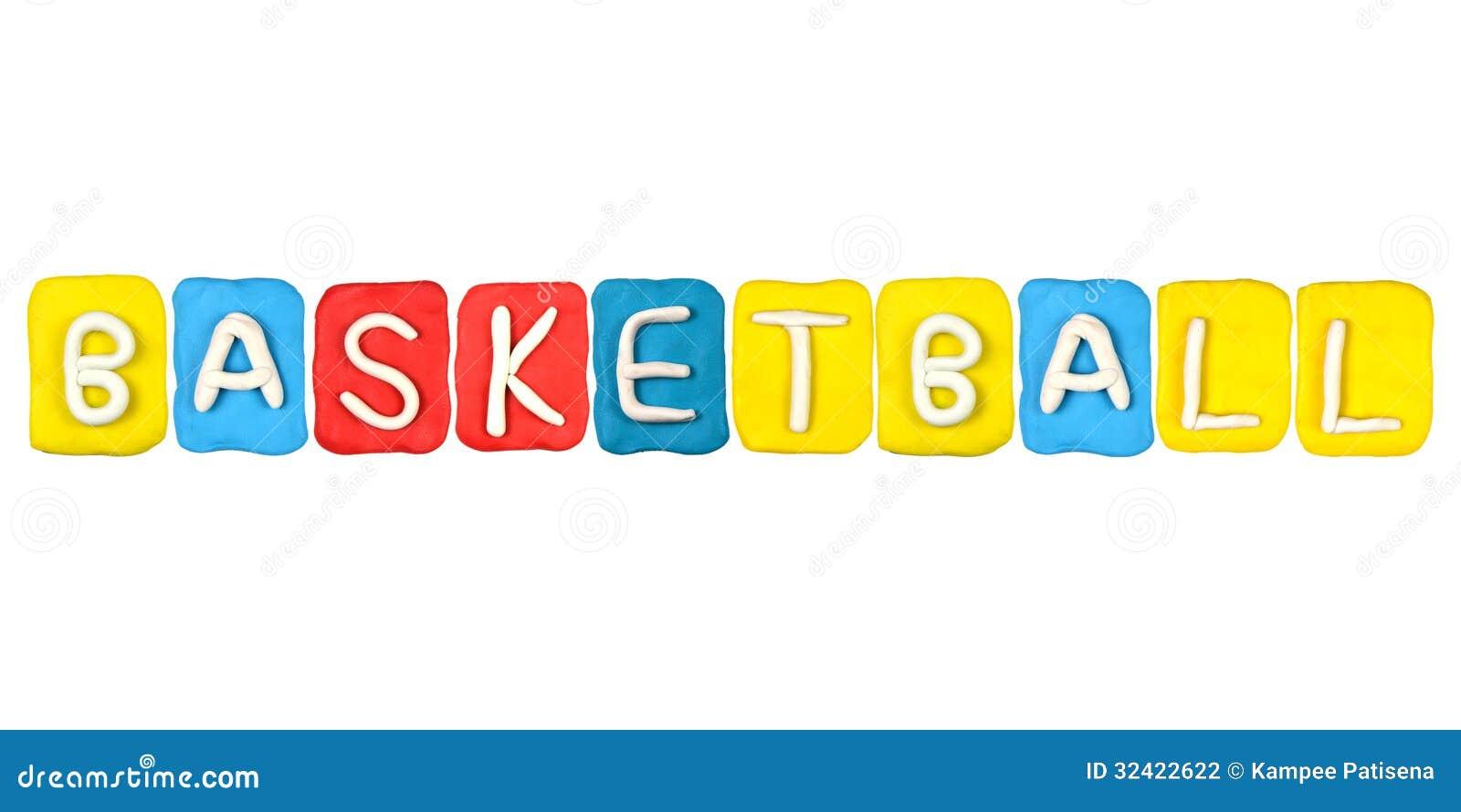 plasticine alphabet form word basketball stock photo image of