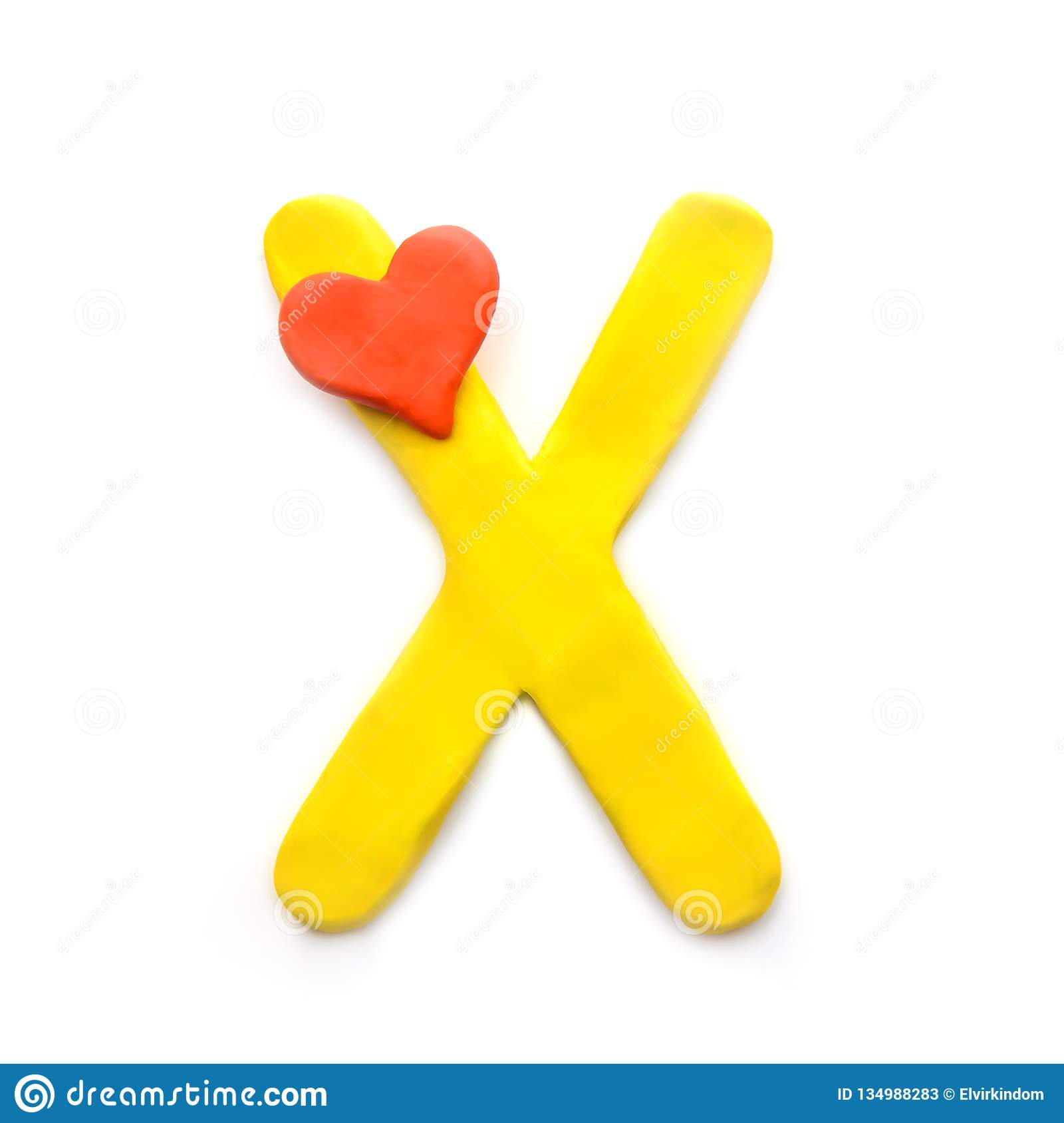 Plasticine Letter X Of The English Alphabet Stock Image