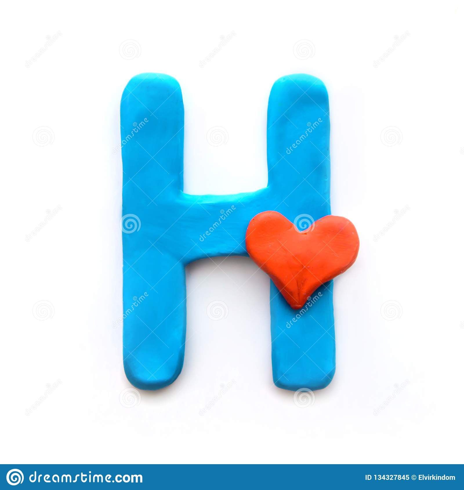 Plasticine Letter H Of The English Alphabet Stock Image