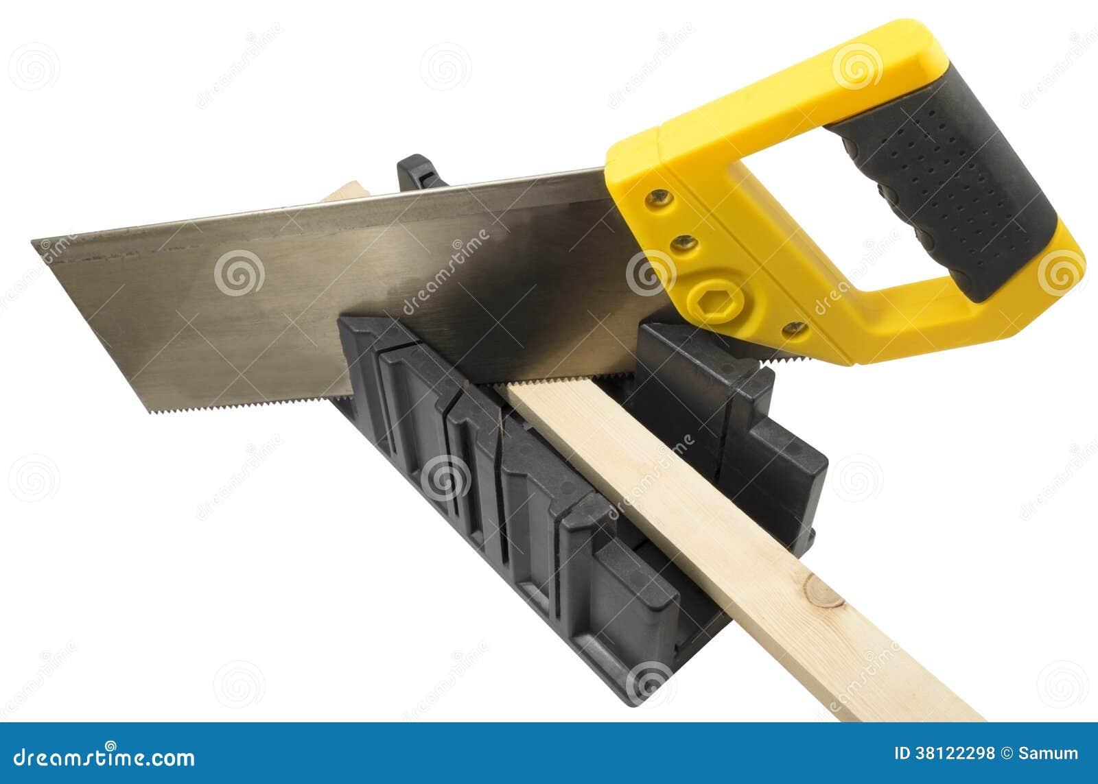 plastikhand sah und winkel gehrungsfugenkastenwerkzeug zu schneiden stockfoto bild von. Black Bedroom Furniture Sets. Home Design Ideas