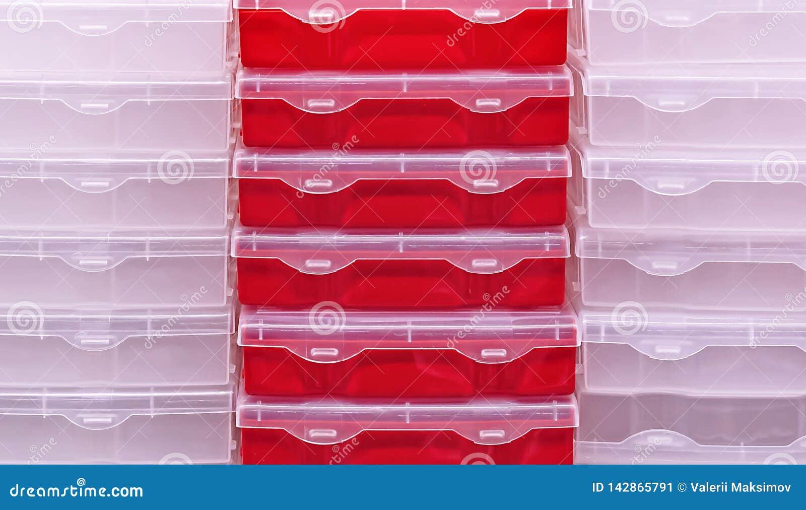Plastikkästen für die Speicherung von Werkzeugen und von Haushaltsartikeln