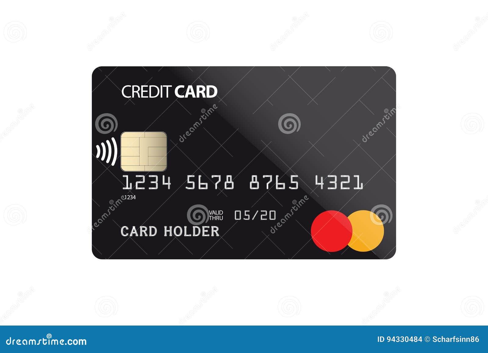 Plastikkreditkarte mit NFC-Chip