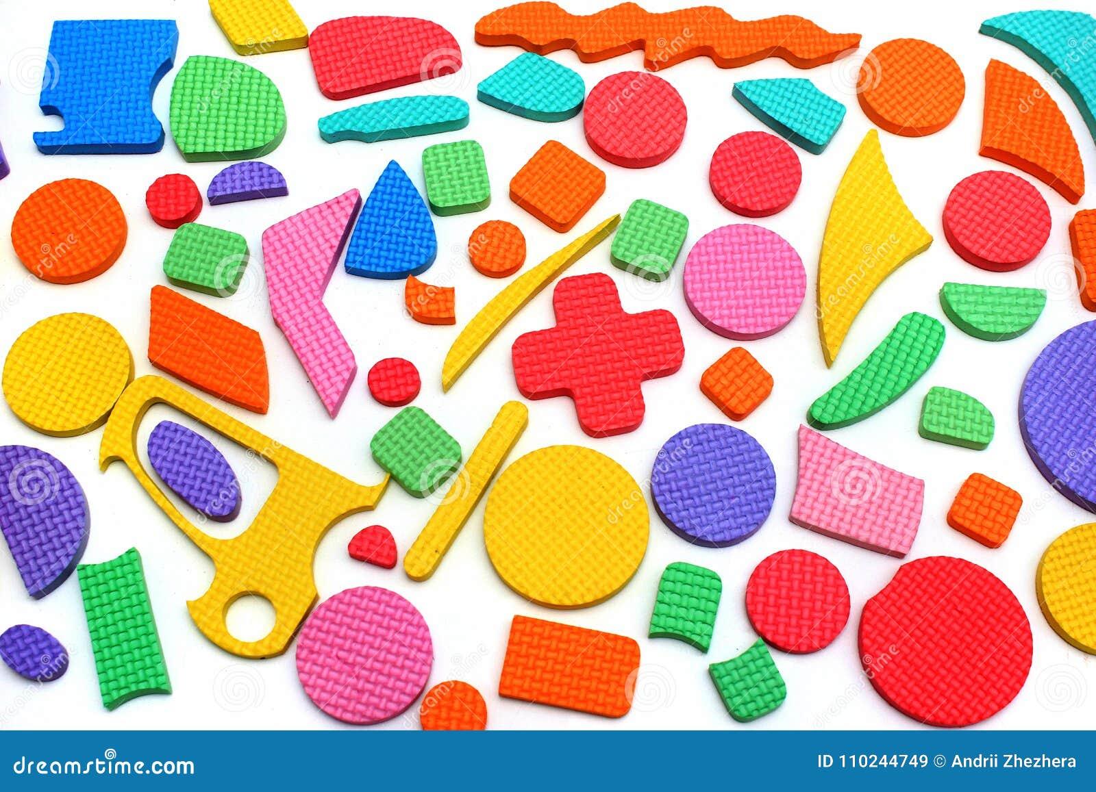 Plastikowi wycinanek dzieci łamigłówki kawałki