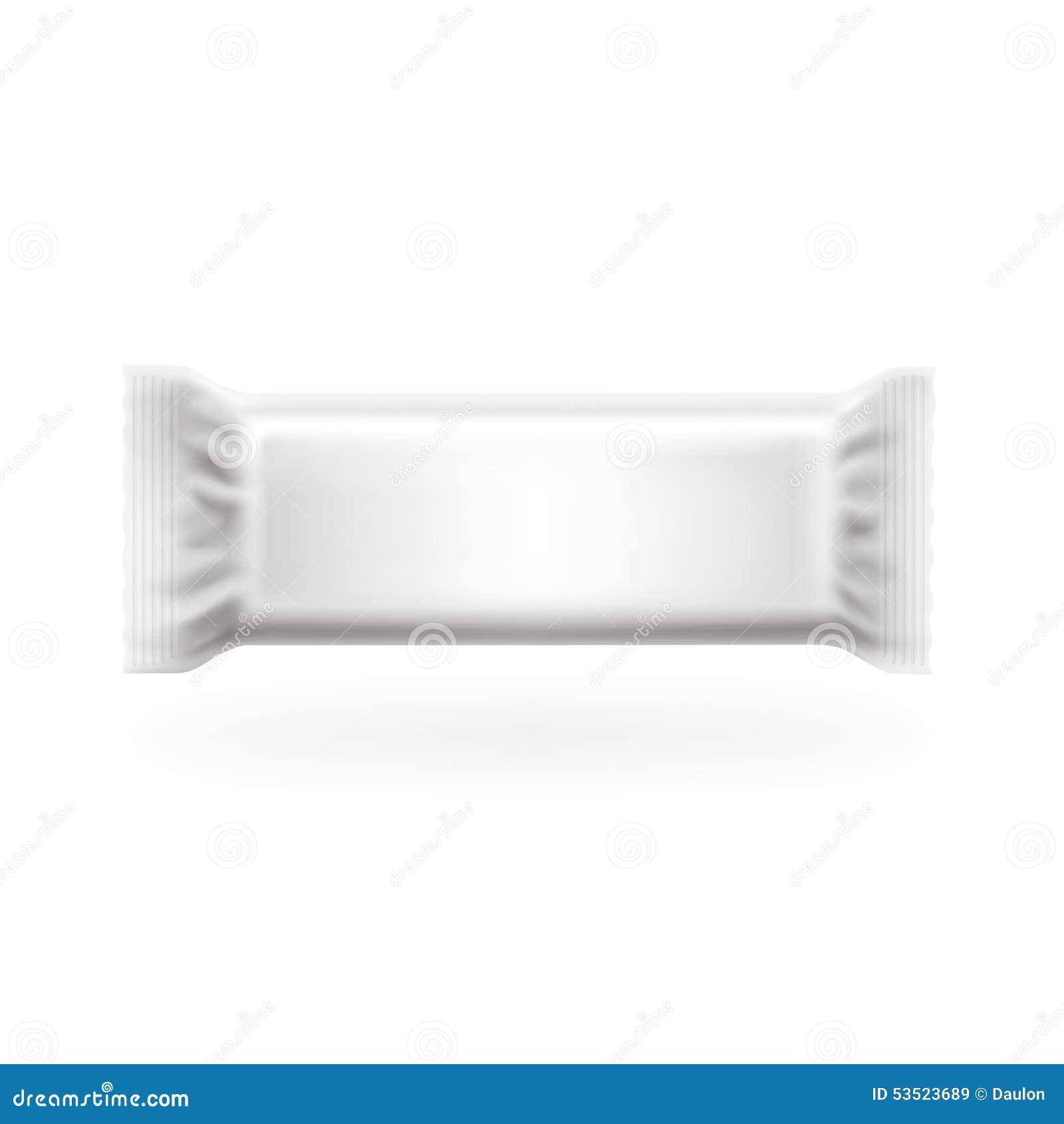 Plastikowy pakunku baru środka pokrywy wektor Czekolada, opłatki, cukierki i cukierek, pakujemy Łatwy editable w warstwach, wysok