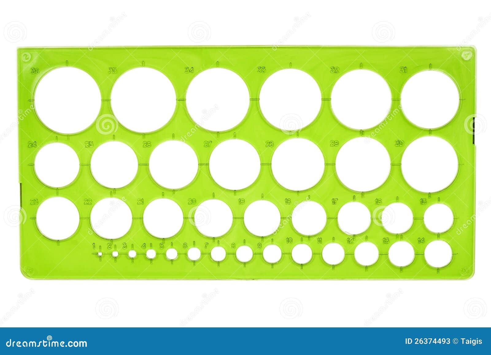 Plastikschablone