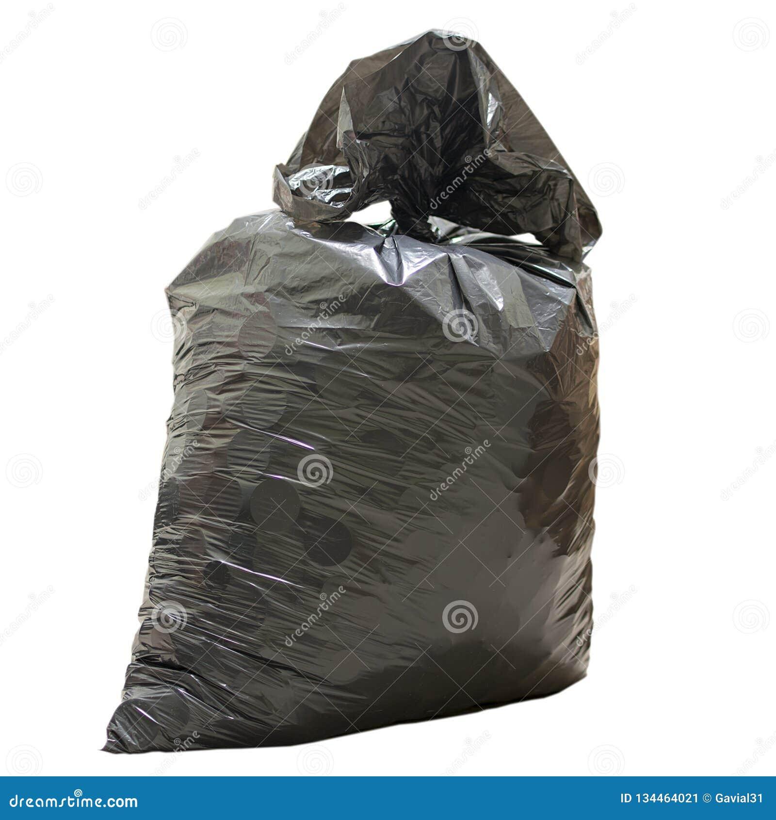 Plastiktasche mit Abfallabschluß oben