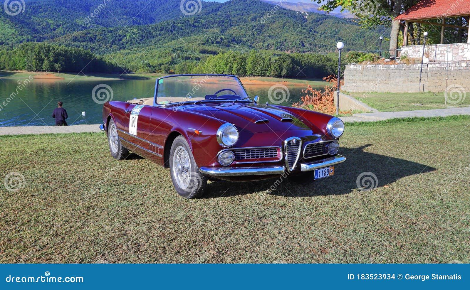 Alfa Romeo Spider 2000 1959 Editorial Stock Image Image Of Vehicle Greece 183523934