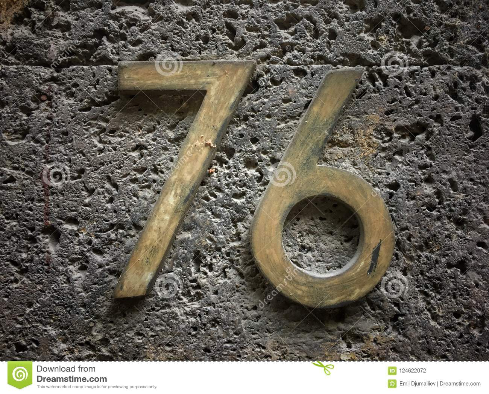 Plat rouillé en métal carré grunge de vintage du nombre d adresse