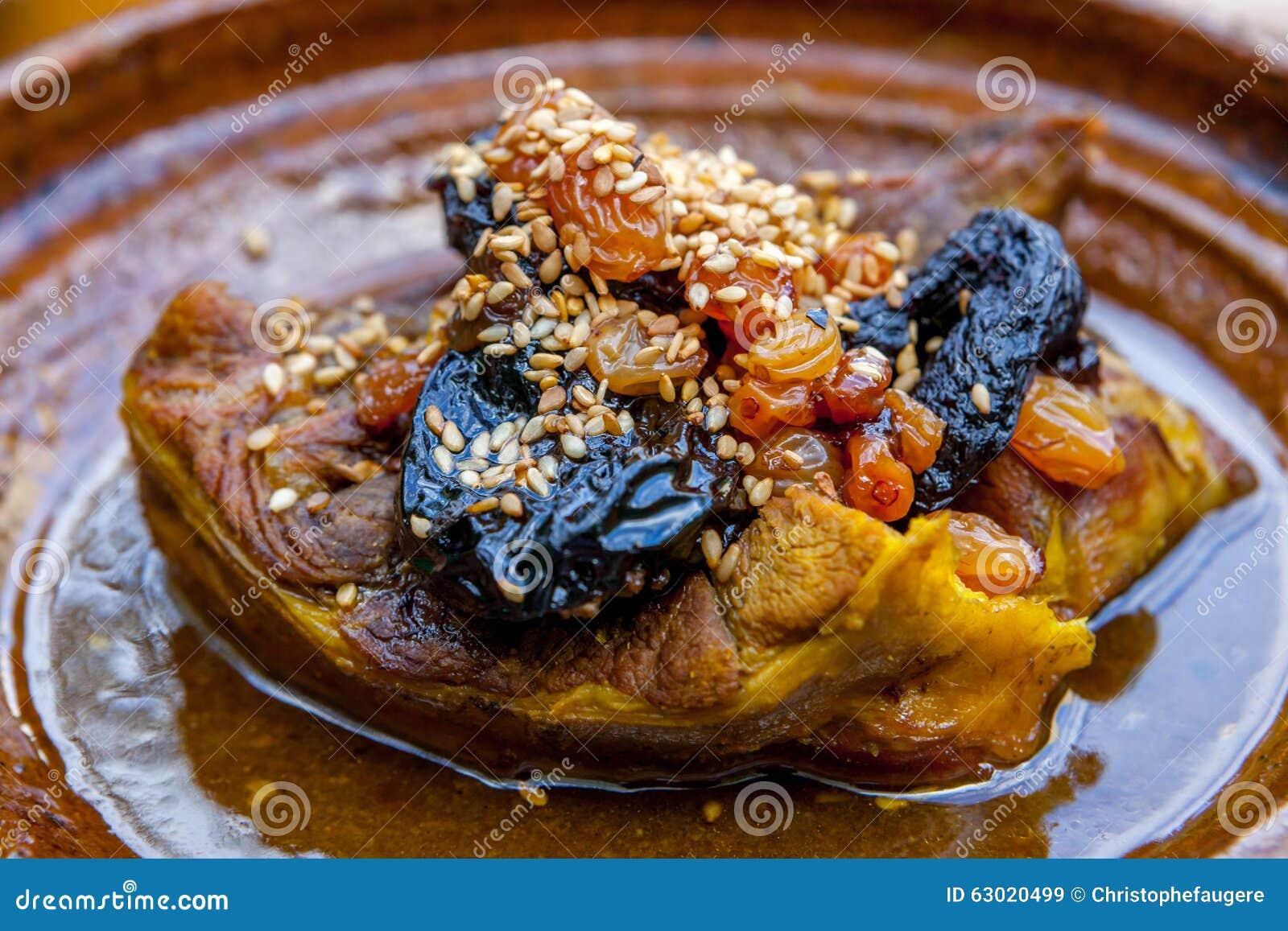 Plat typique de marocain de tajine image stock image 63020499 - Plat a tajine pour induction ...