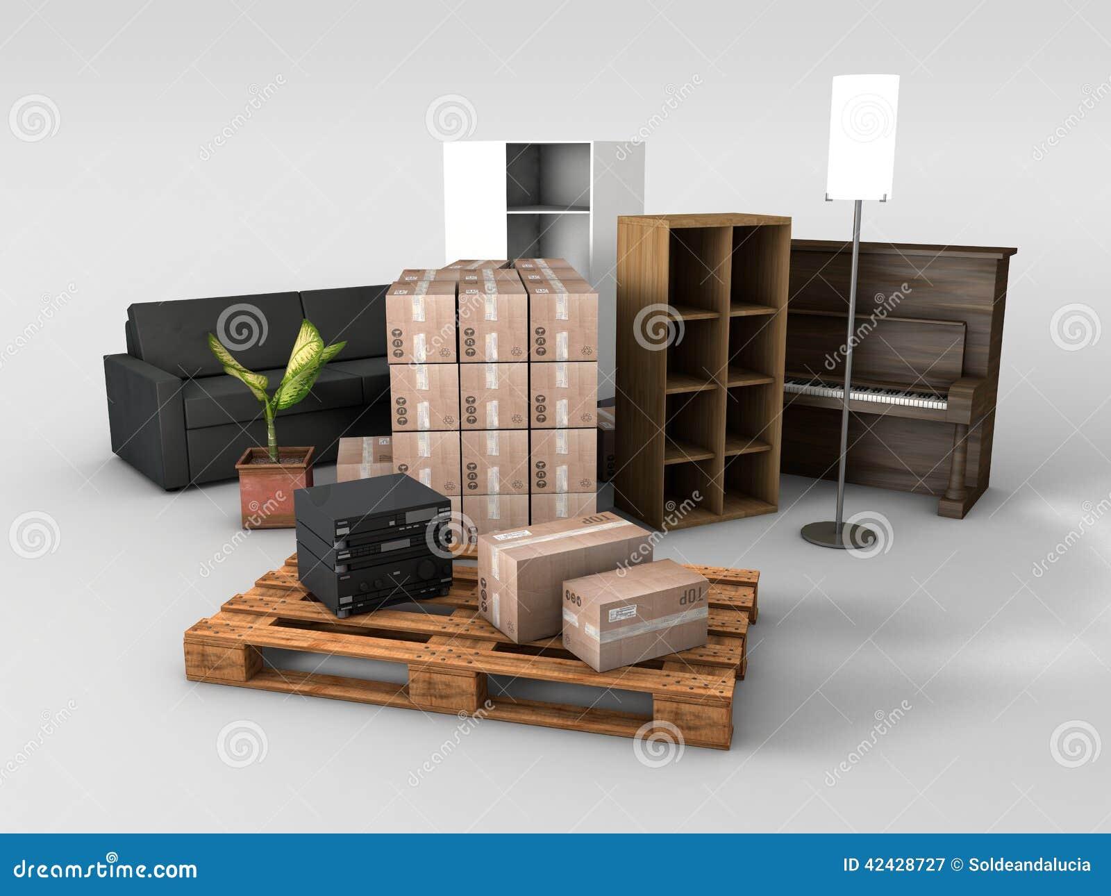 Plataforma de madera con los tableros de tarjeta