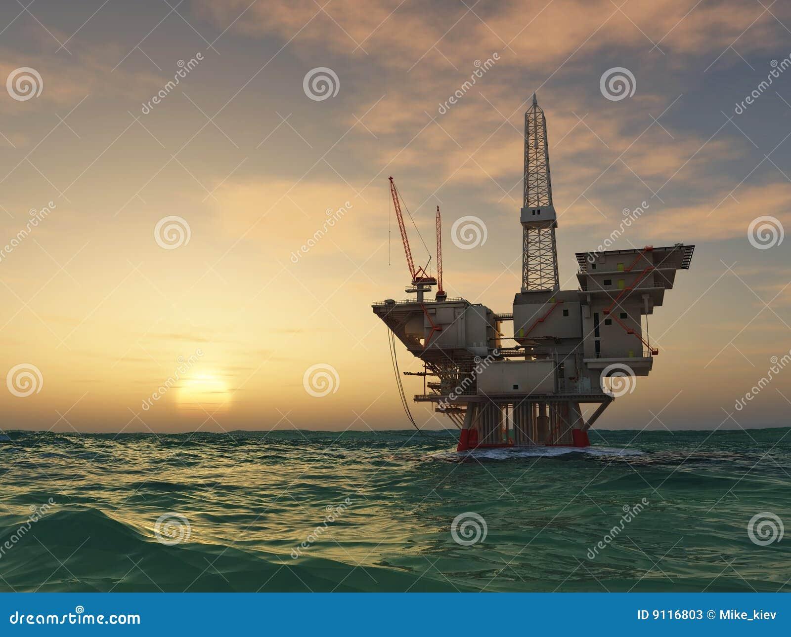 Plataforma de perforación de la plataforma petrolera del mar