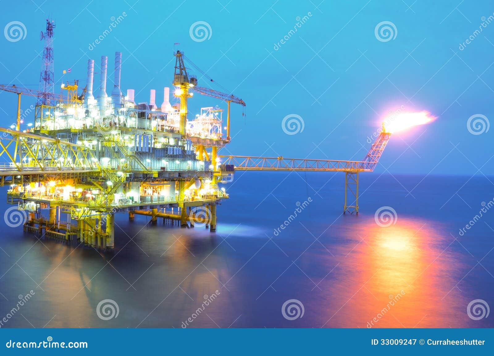 Plataforma do óleo e do equipamento