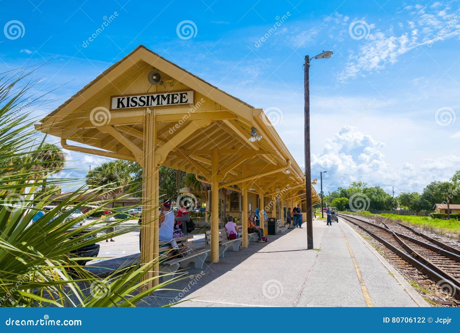 Plataforma do trem de Kissimmee florida