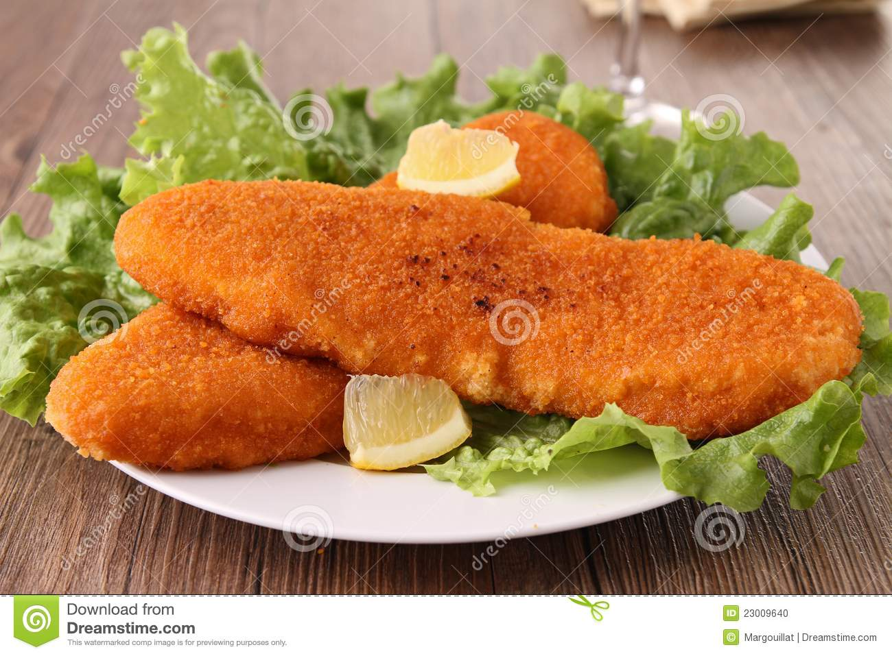 plate of breaded fish stock photo image of gastronomy