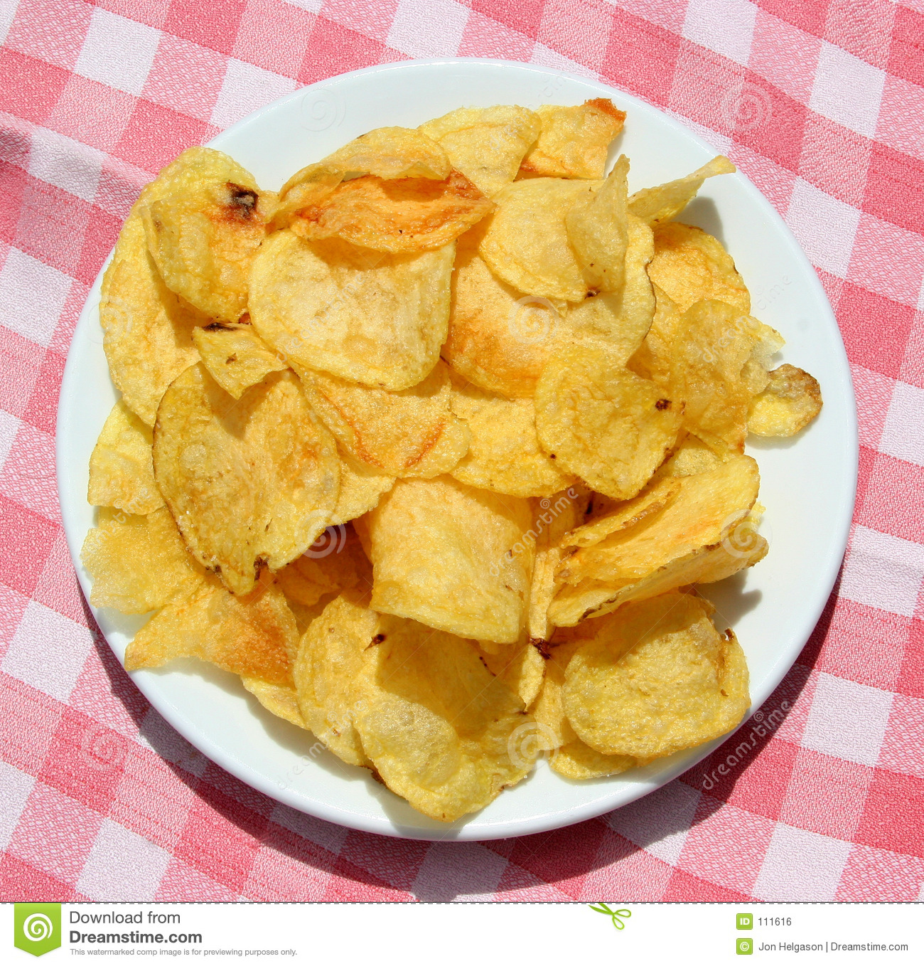 Plate Of Chips Royalty Free Stock Image - Image: 111616