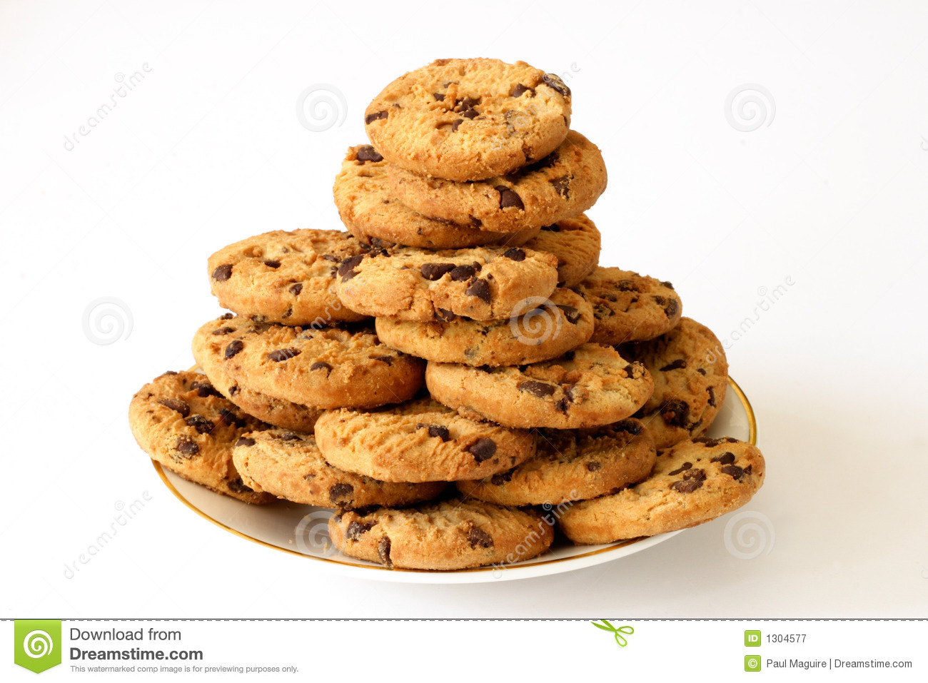 Plate Of Cookies Royalty Free Stock Photography - Image: 1304577