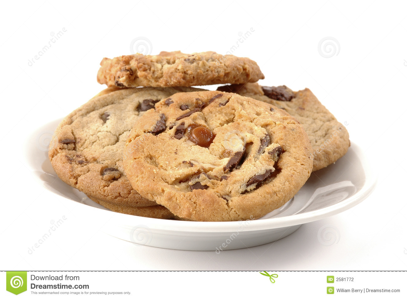 Plate Of Cookies Stock Photography Image 2581772