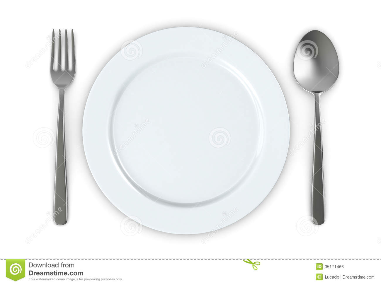Xl Green Egg Table Plans Plate And Cutlery Royalty Free Stock Image - Image: 35171466