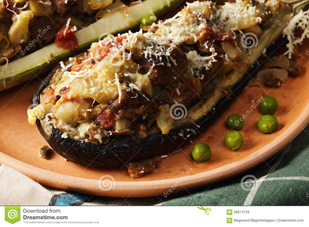 ... boats-closeup-stuffed-meat-vegetables-cheese-baked-boat-form-58074129