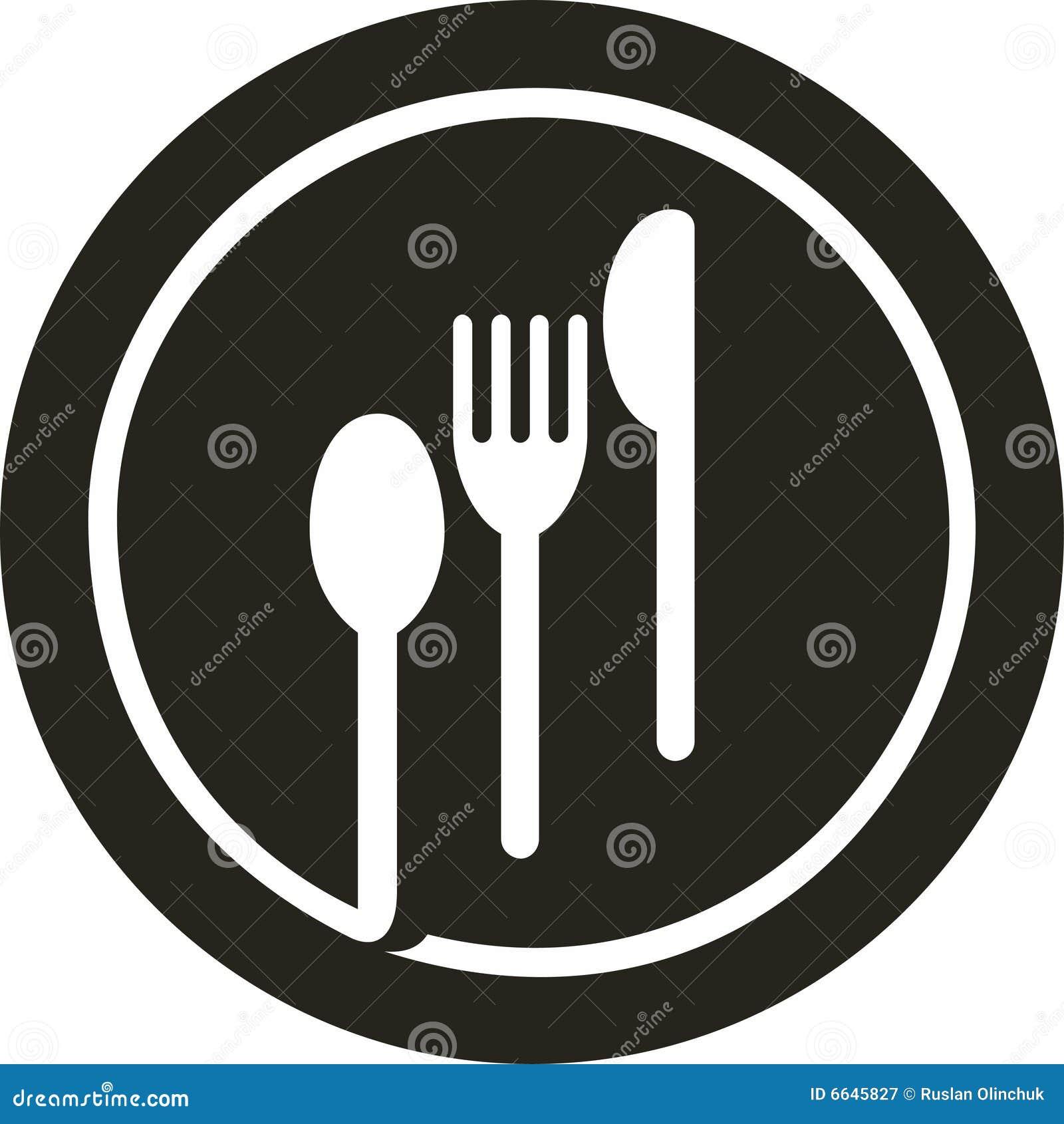 Plate Fork Knife Spoon Stock Vector Illustration Of