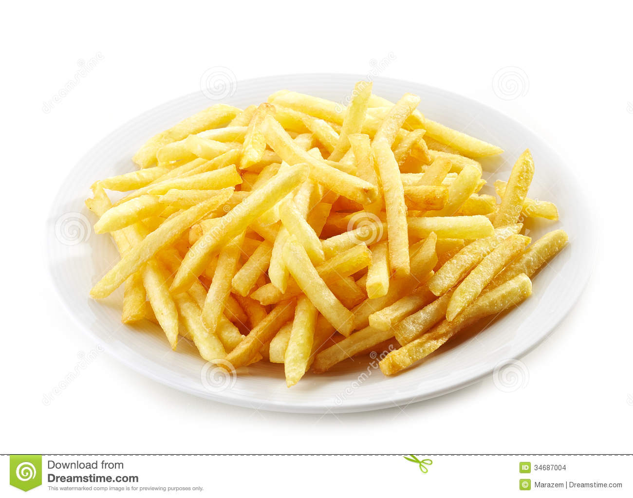 Plate Of French Fries Stock Images - Image: 34687004