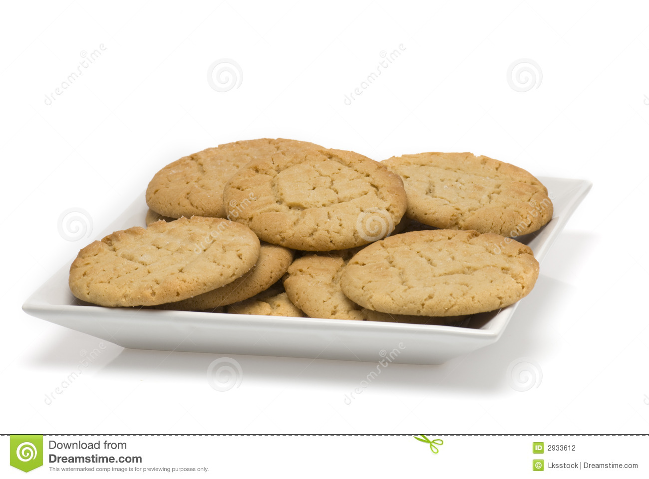 plate of fresh baked cookies stock photography image