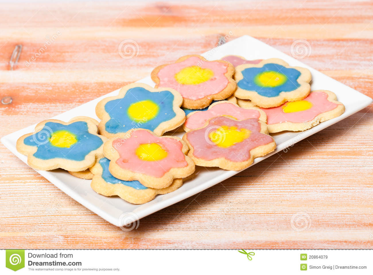 Plate Of Homemade Biscuits Royalty Free Stock Images