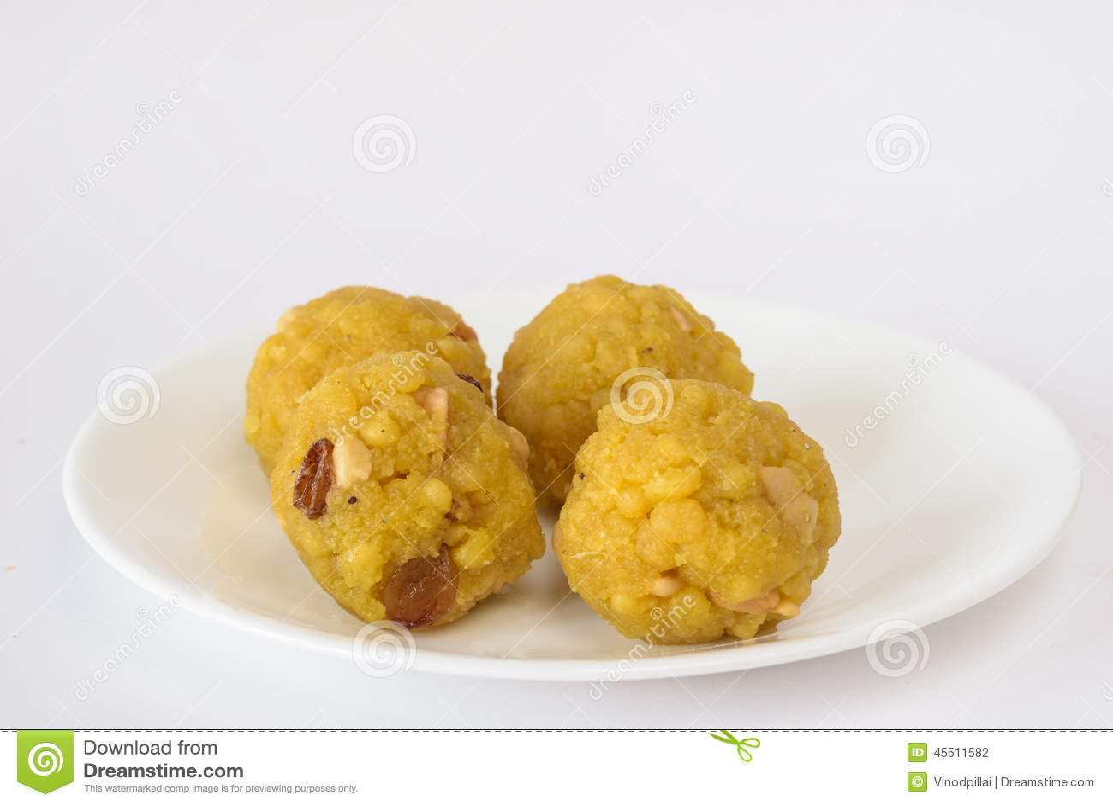 Plate with Indian sweet - Boondi Laddoo
