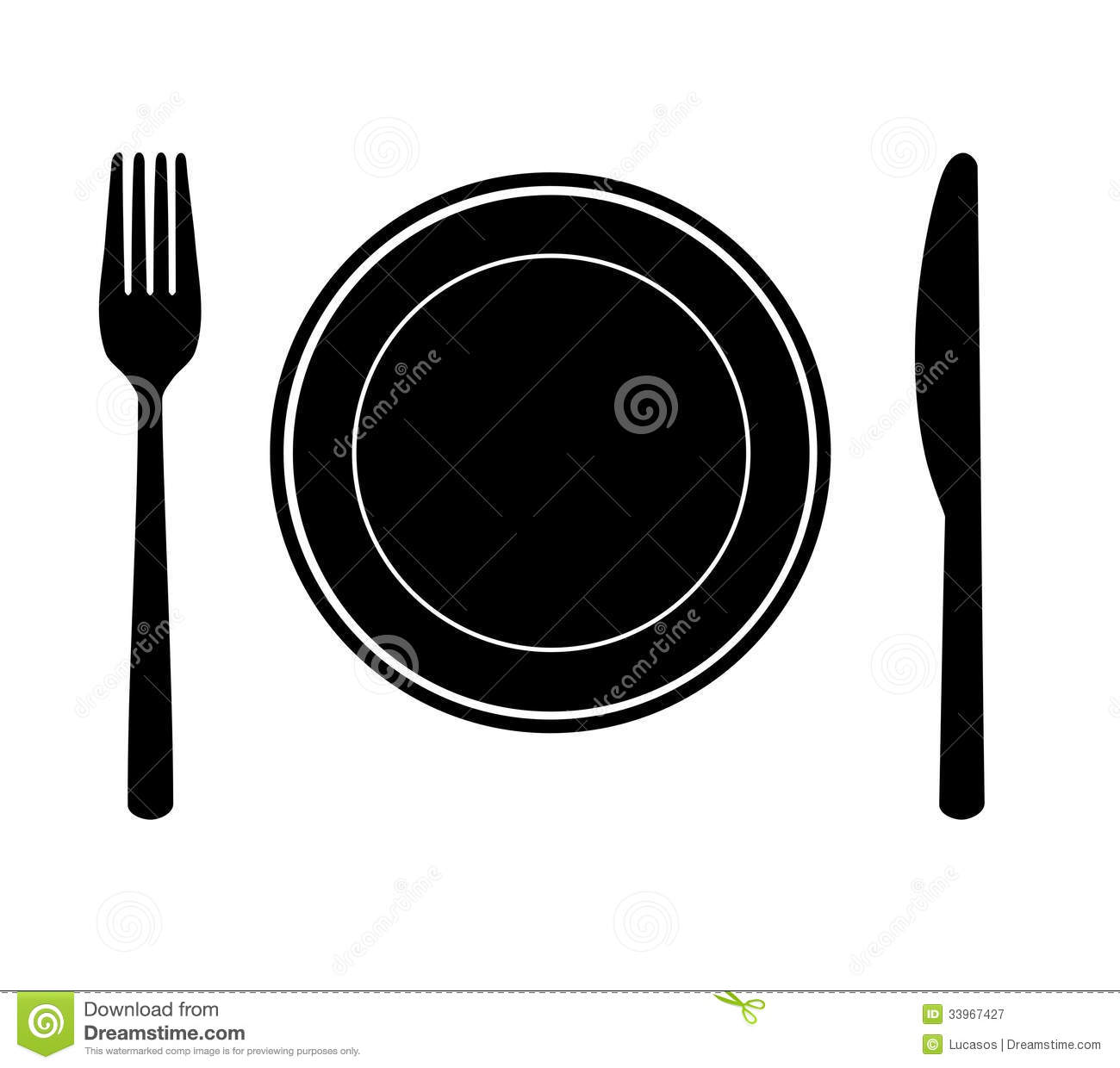 Plate With Knife And Fork Royalty Free Stock Photography