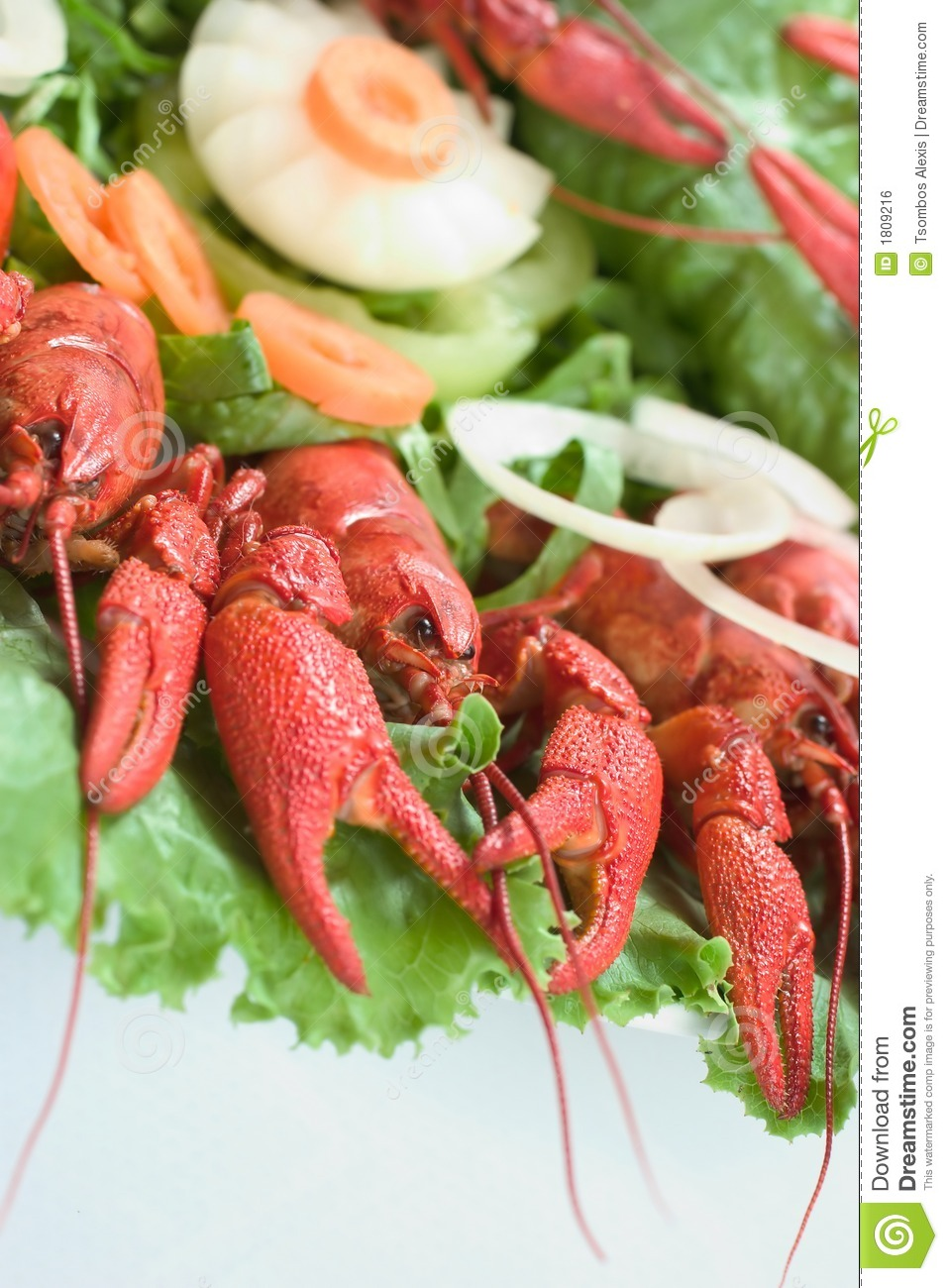 Plate with lobsters