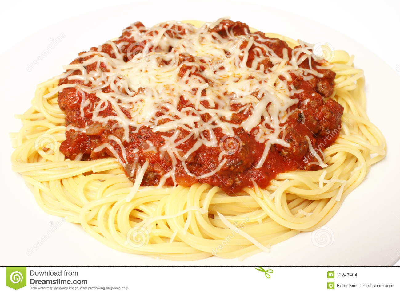 Plate Of Spaghetti Stock Images - Image: 12243404