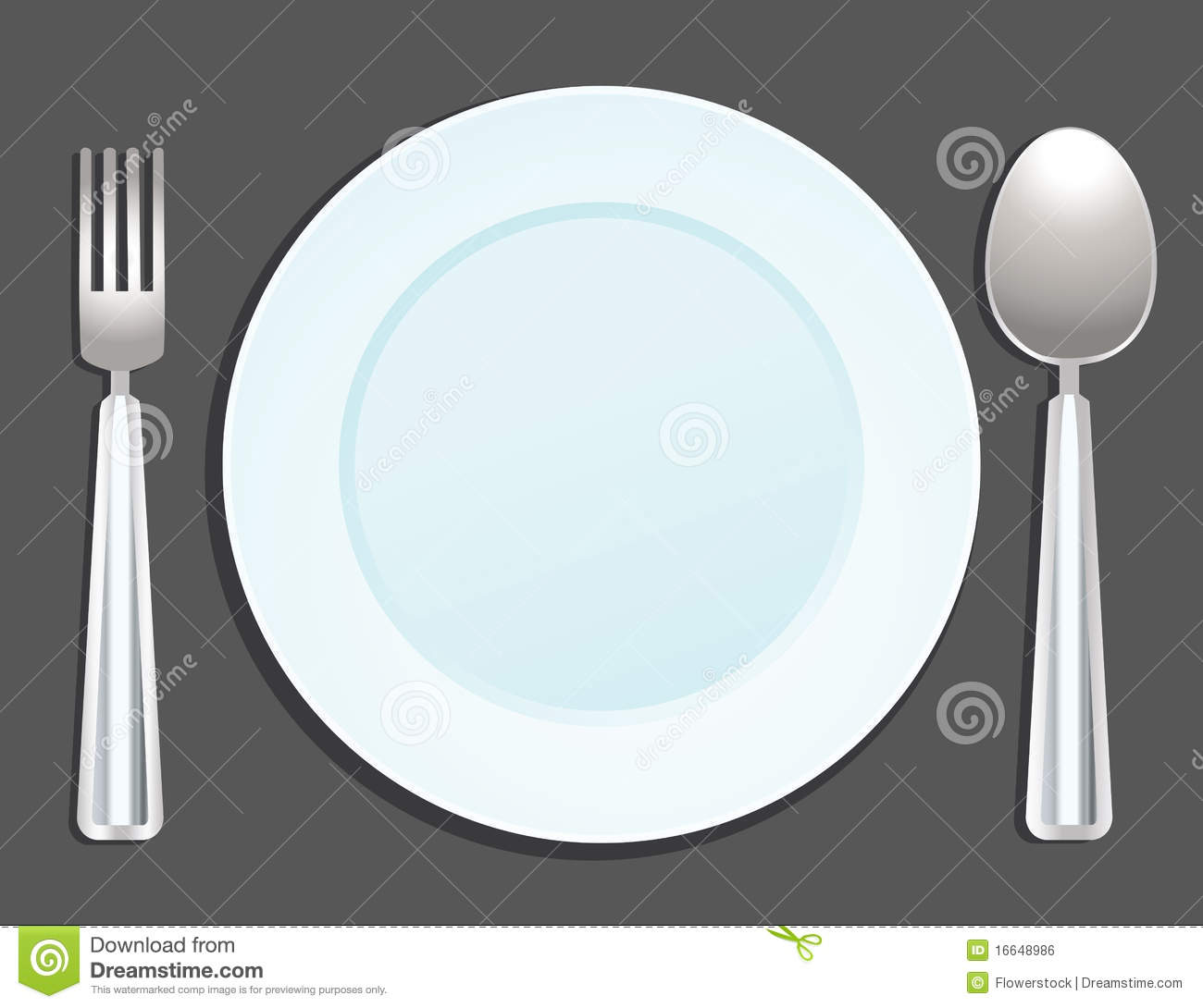 Plate, Spoon And Fork Royalty Free Stock Image - Image: 16648986