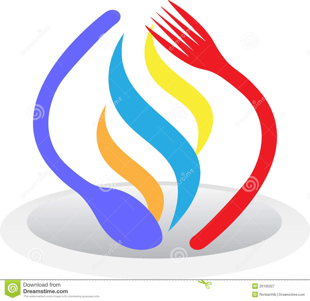 Plate Spoon Fork Royalty Free Stock Photography Image