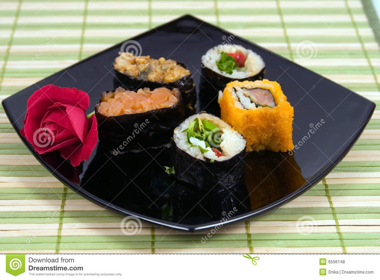 Plate from a susi and roll