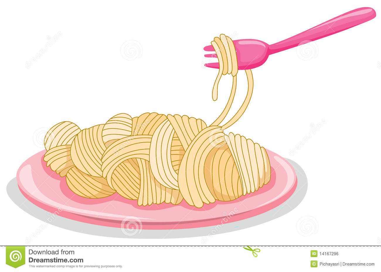 A Plate Of Uncooked Pasta With Fork Royalty Free Stock
