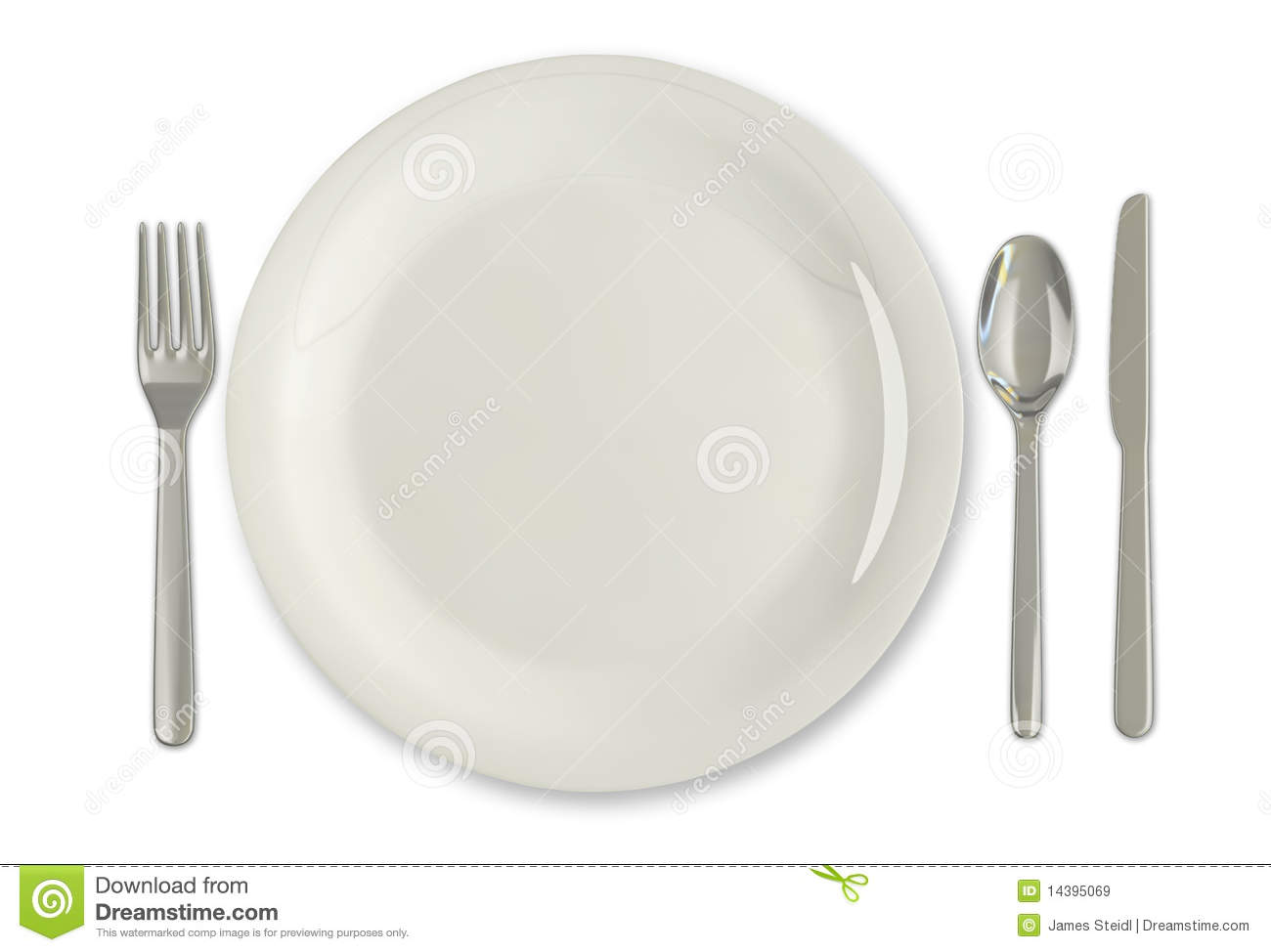 Plate and utensils royalty free stock images image 14395069 for Place setting images