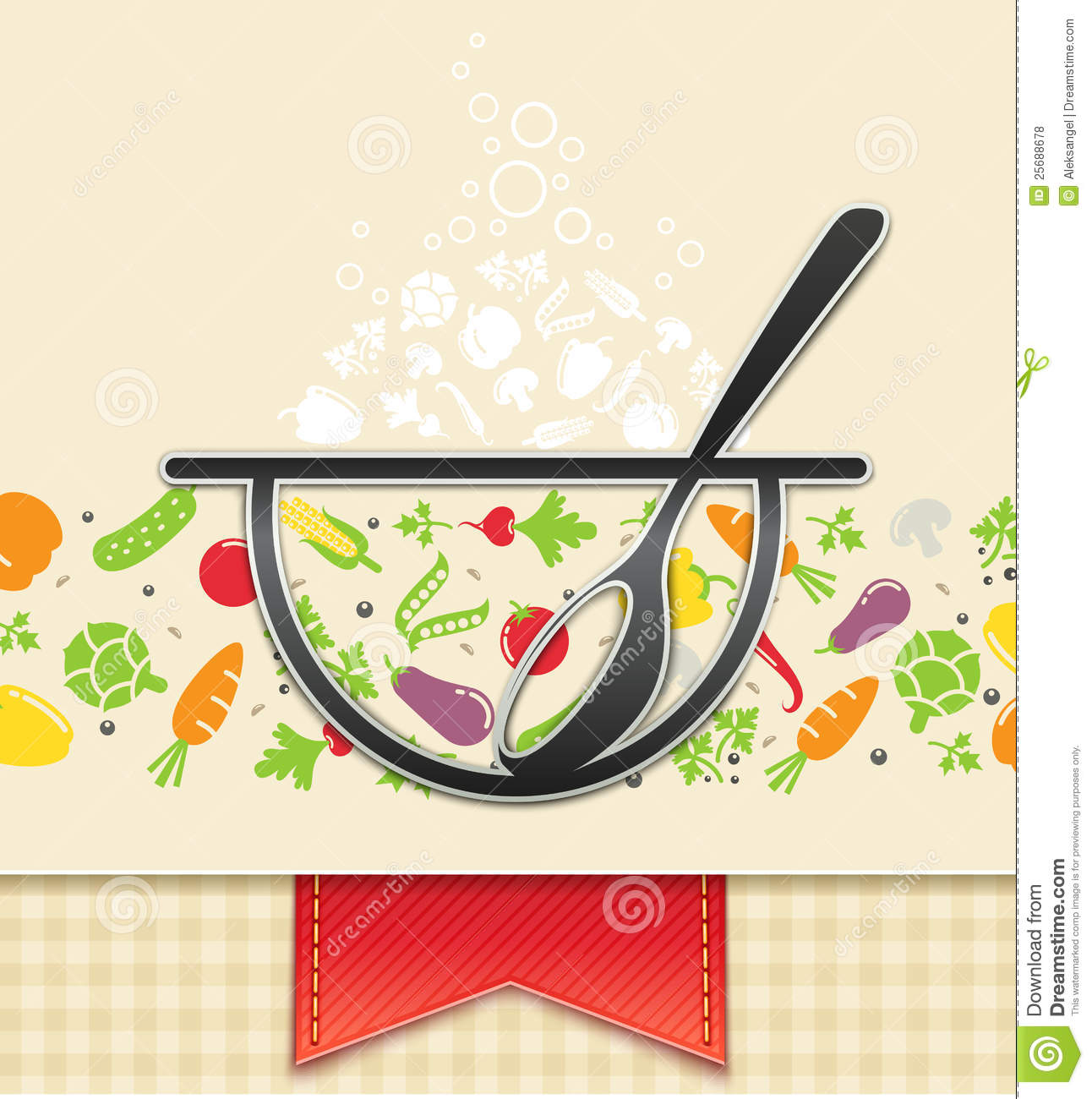 Plate With Vegetable Food Background Royalty Free Stock