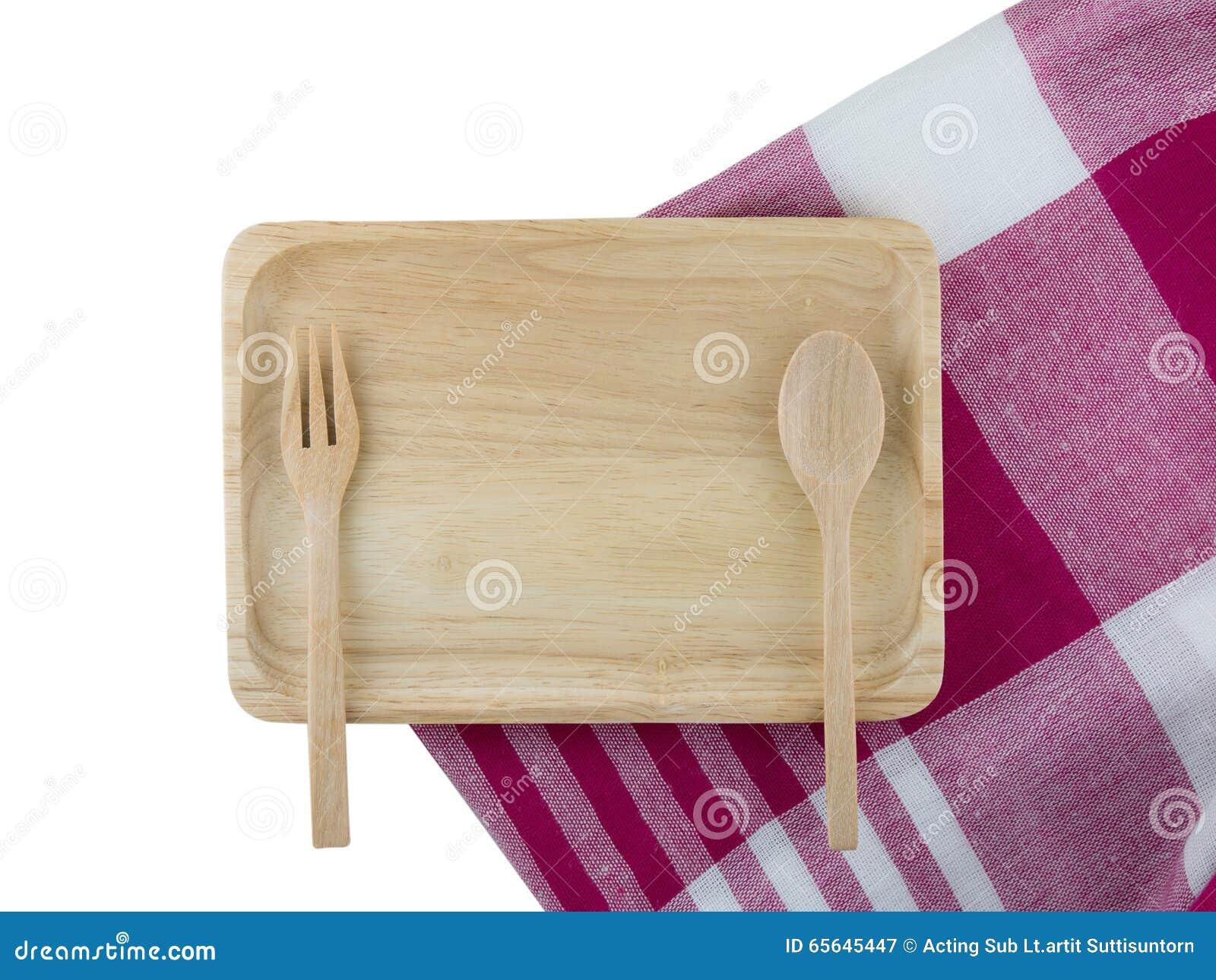 Plateau et cuillère en bois