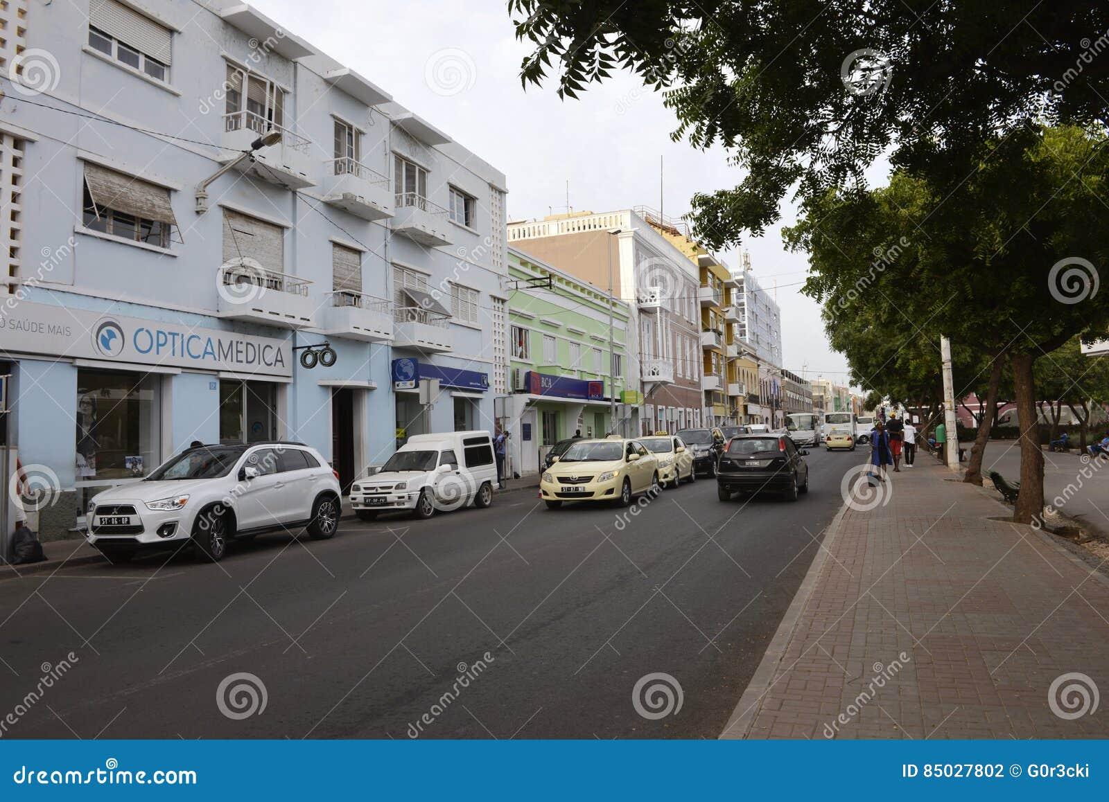 Plateau - miasto Praia, przylądka Verde kapitał, Santiago wyspa