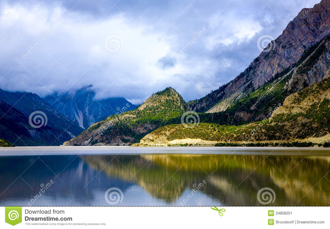 Plateau Scenery Landscape Reflection Stock Image - Image: 34858251