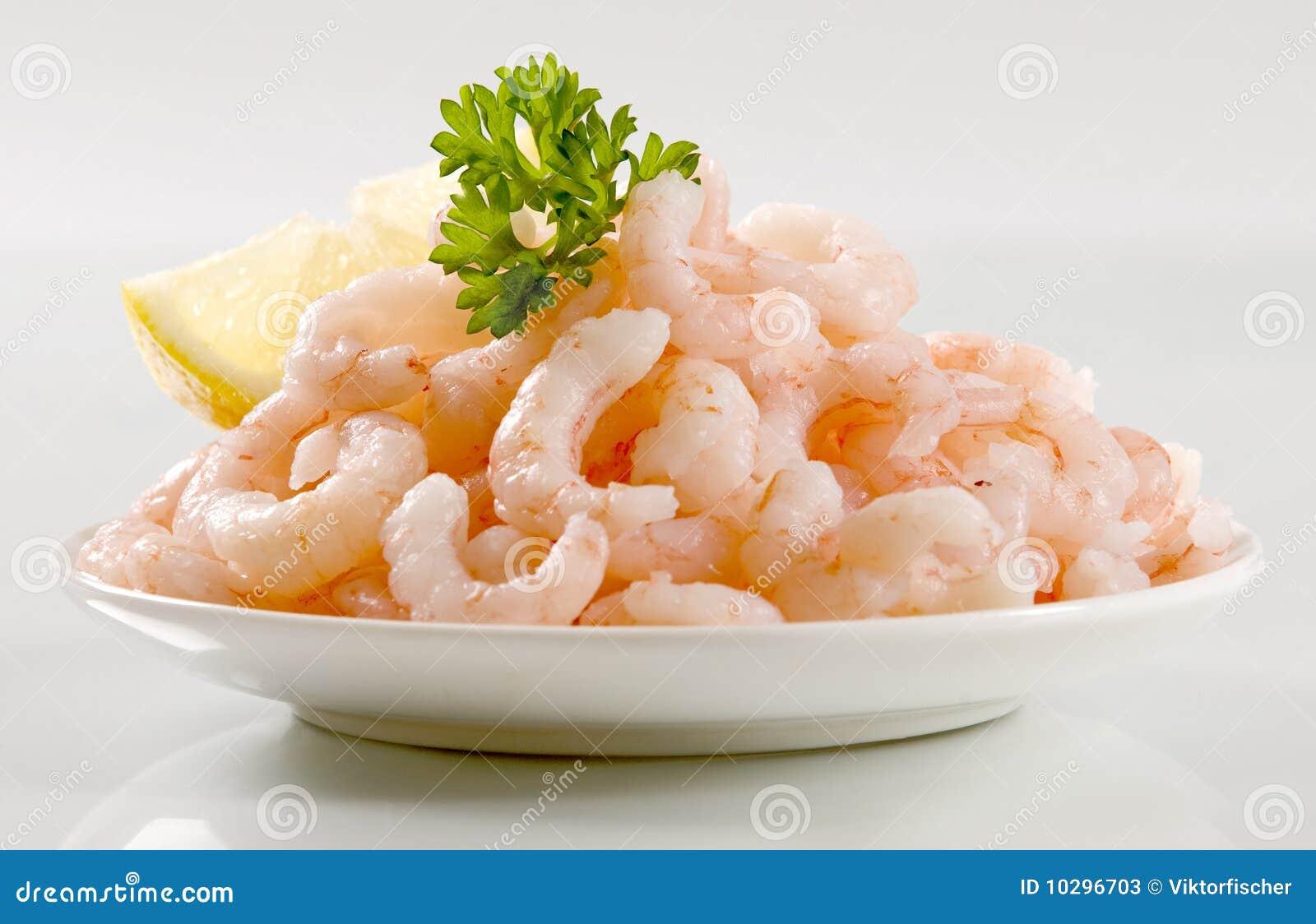 Plateful of shrimps