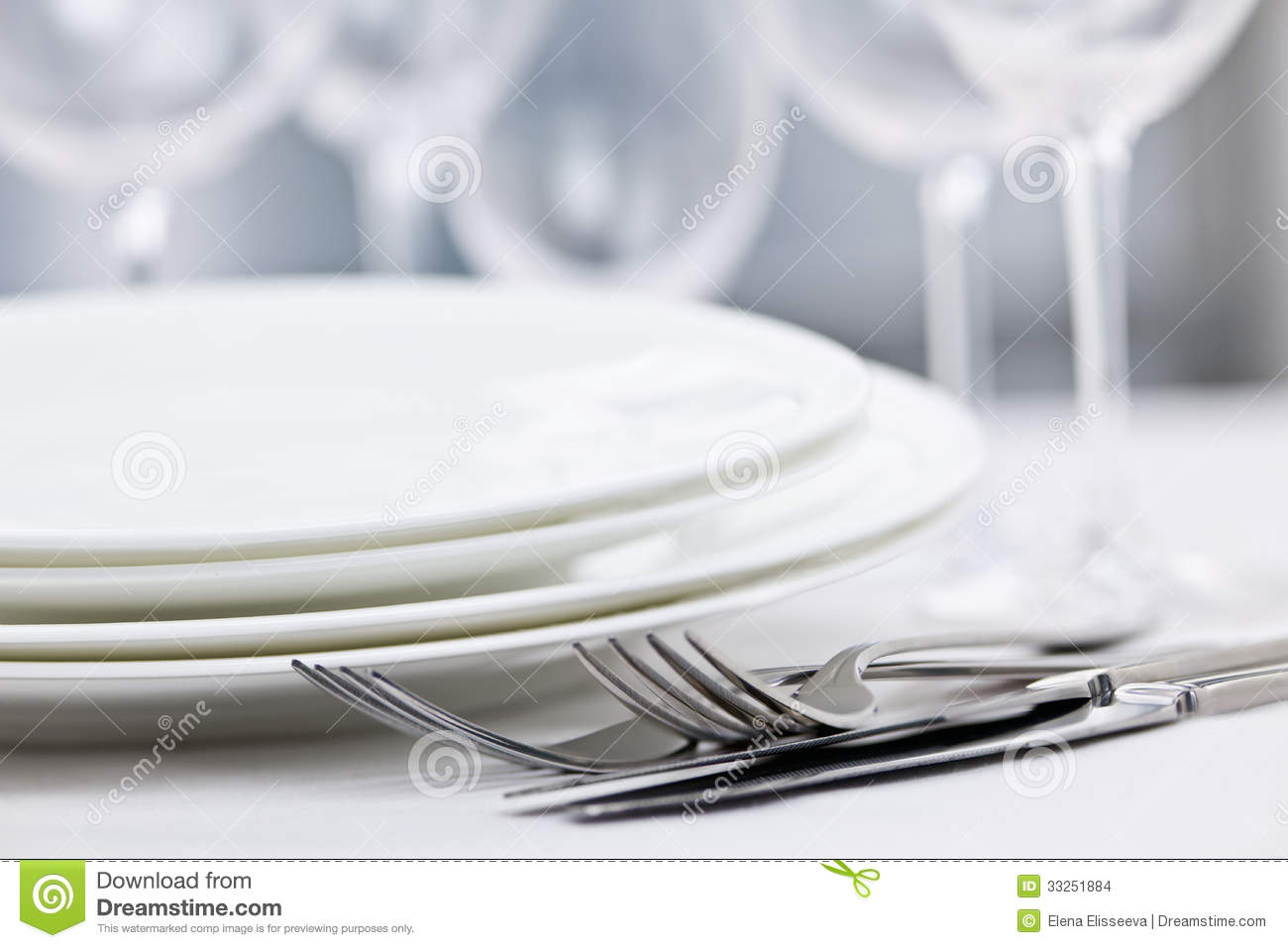 Plates And Cutlery Stock Images Image 33251884